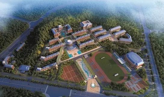 夷陵中学新校区规划图