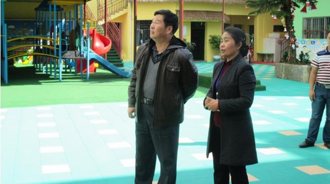 建水机关幼儿园到绿春县幼儿园指导申等工作