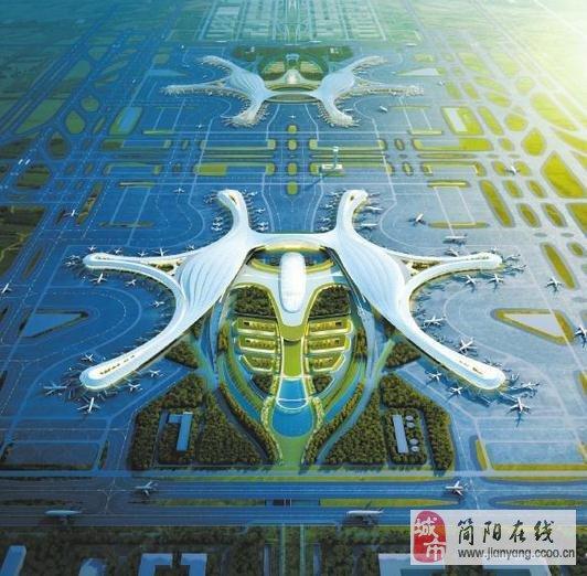 新机场和地铁的建设对简阳楼市的影响图片