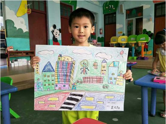 手拉大手,共建文明城市 幼儿绘画比赛