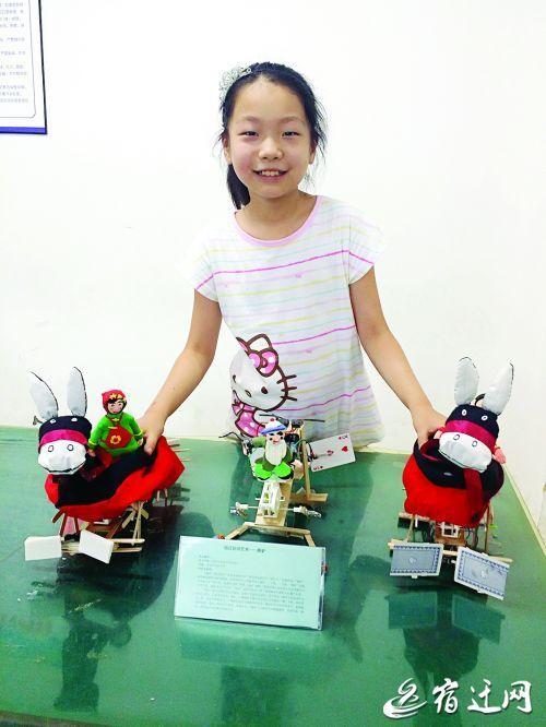 """宿迁小学生张若瑜:率队造""""霸王虞姬""""仿生机器人获大奖图片"""