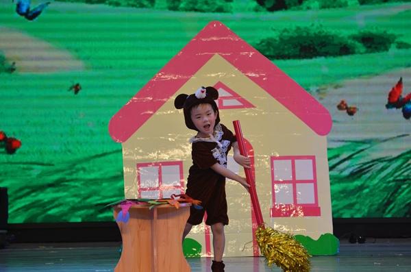 天使城堡幼儿园金海园蕾3班情景剧表演《小熊请客》