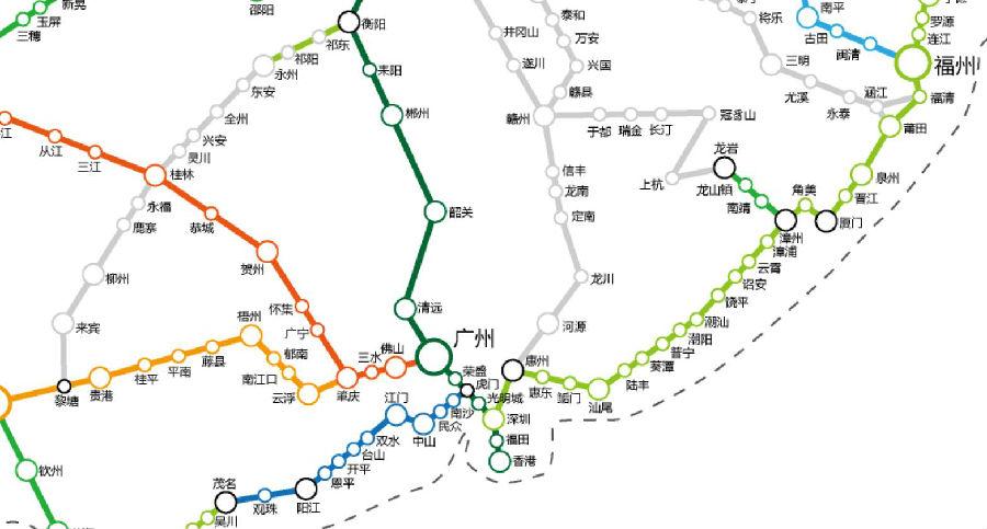 走南闯北,你需要一份高铁地图 对着中国高铁地图网,找到你想要的方向