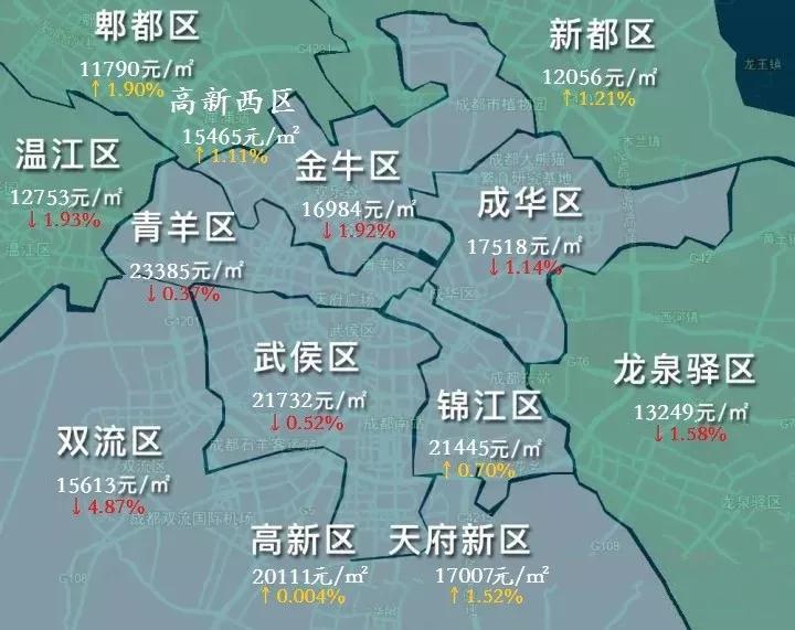 成都6月中心城区房价地图图片