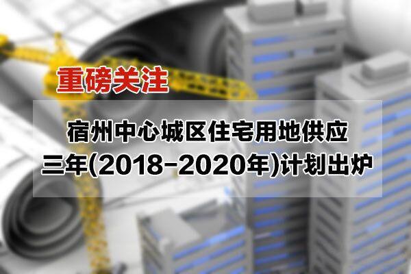 重磅|宿州中心城区住宅用地供应三年(2018-2020年)滚动计划出炉