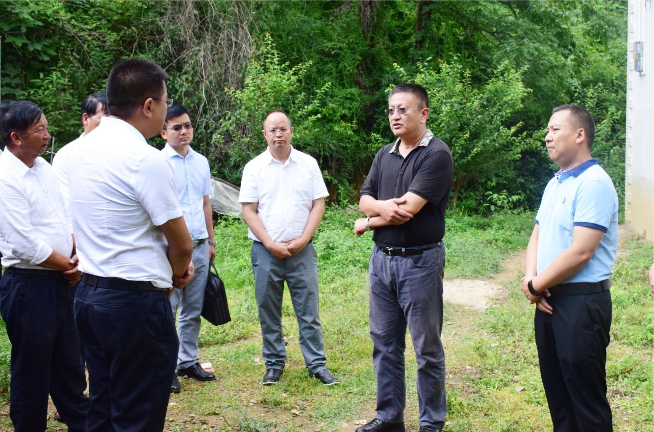 包旭到新哨镇棕白小组调研地质灾害防治工作时强调做细做实地质灾害防范和整村搬迁避让工作