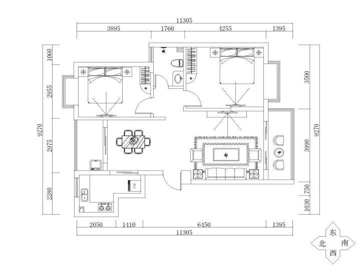复式房平面设计图展示图片