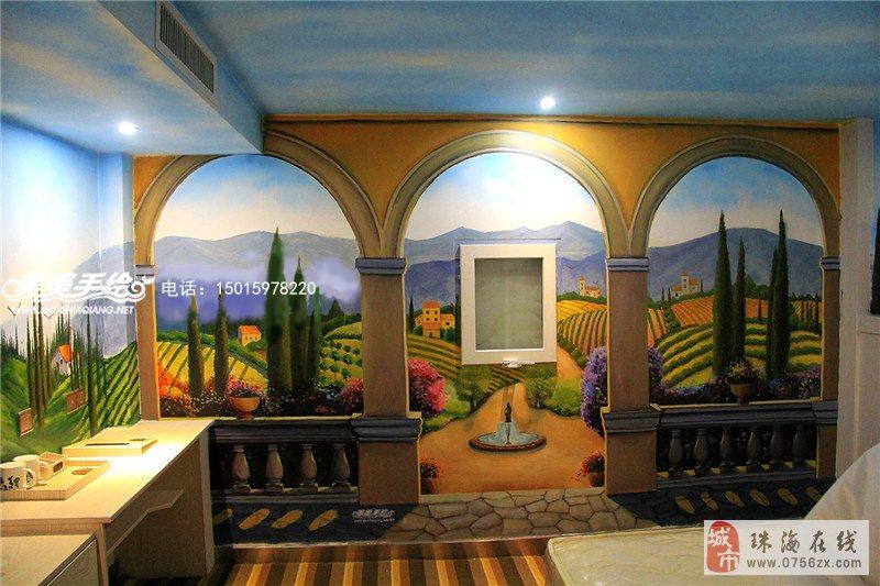 珠海墙绘/珠海壁画/珠海手绘墙/珠海墙体彩绘