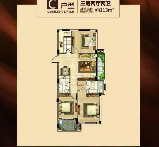 115平方三层半房子设计图