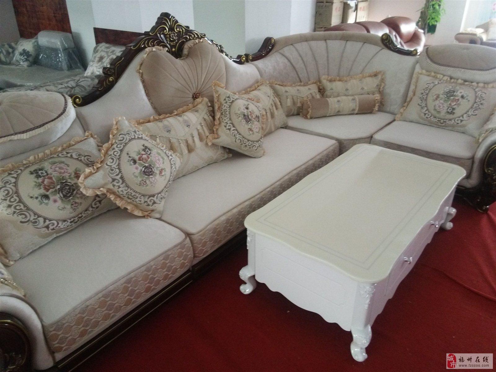 全新欧式布艺沙发16年最新款,沙发总长度3.6米贵妃2.米不分方向.