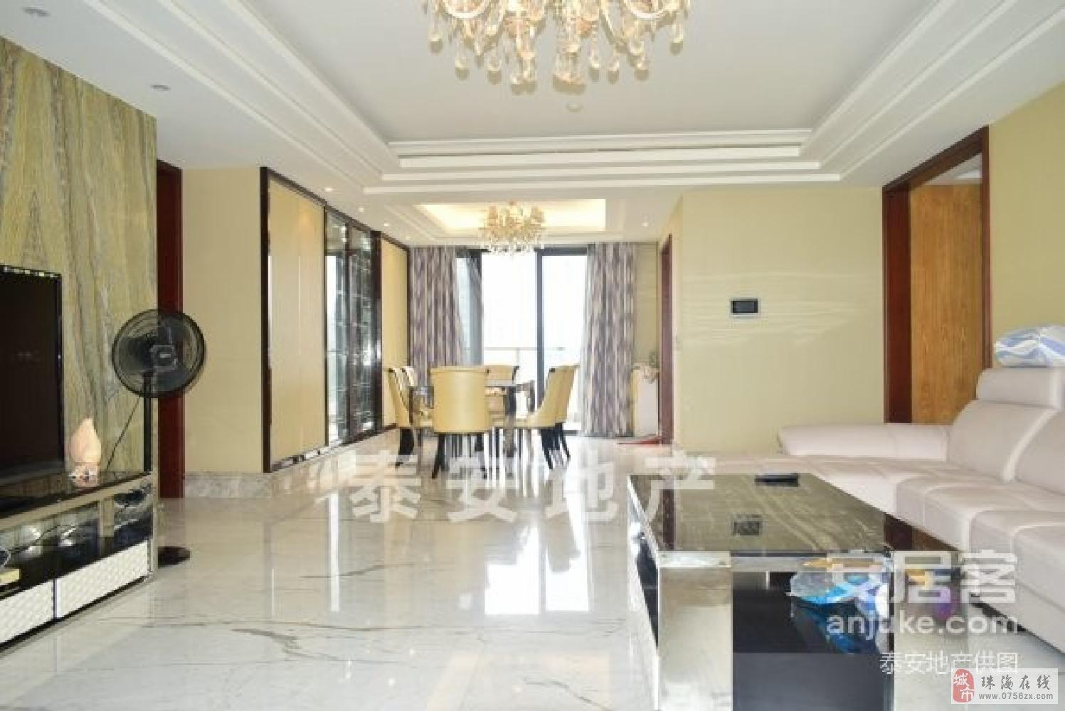 香洲情侣路凤凰海域190平5房带豪华装修高层海景