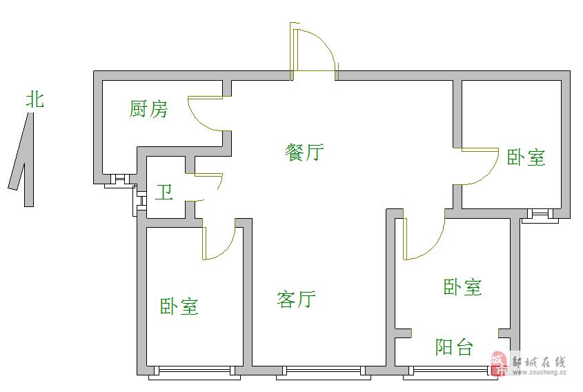 金山新苑3室2厅1卫83万元