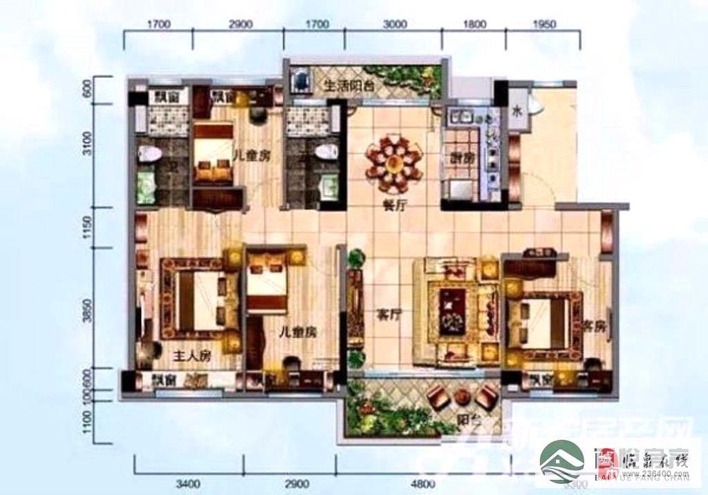 臨泉·碧桂園帶閣樓4室2廳2衛111萬元