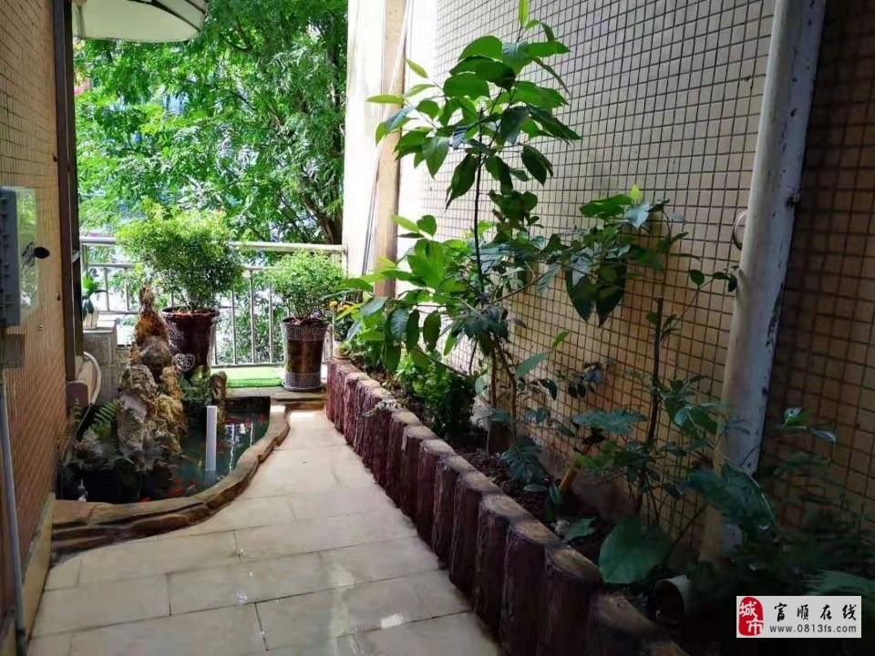 A987富顺西城国际抬高一楼3室2厅双卫精装修带花
