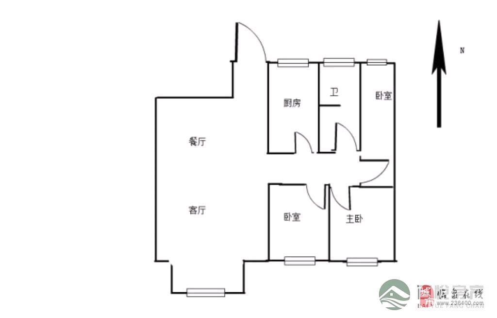 瑞景国际3室2厅1卫73万元
