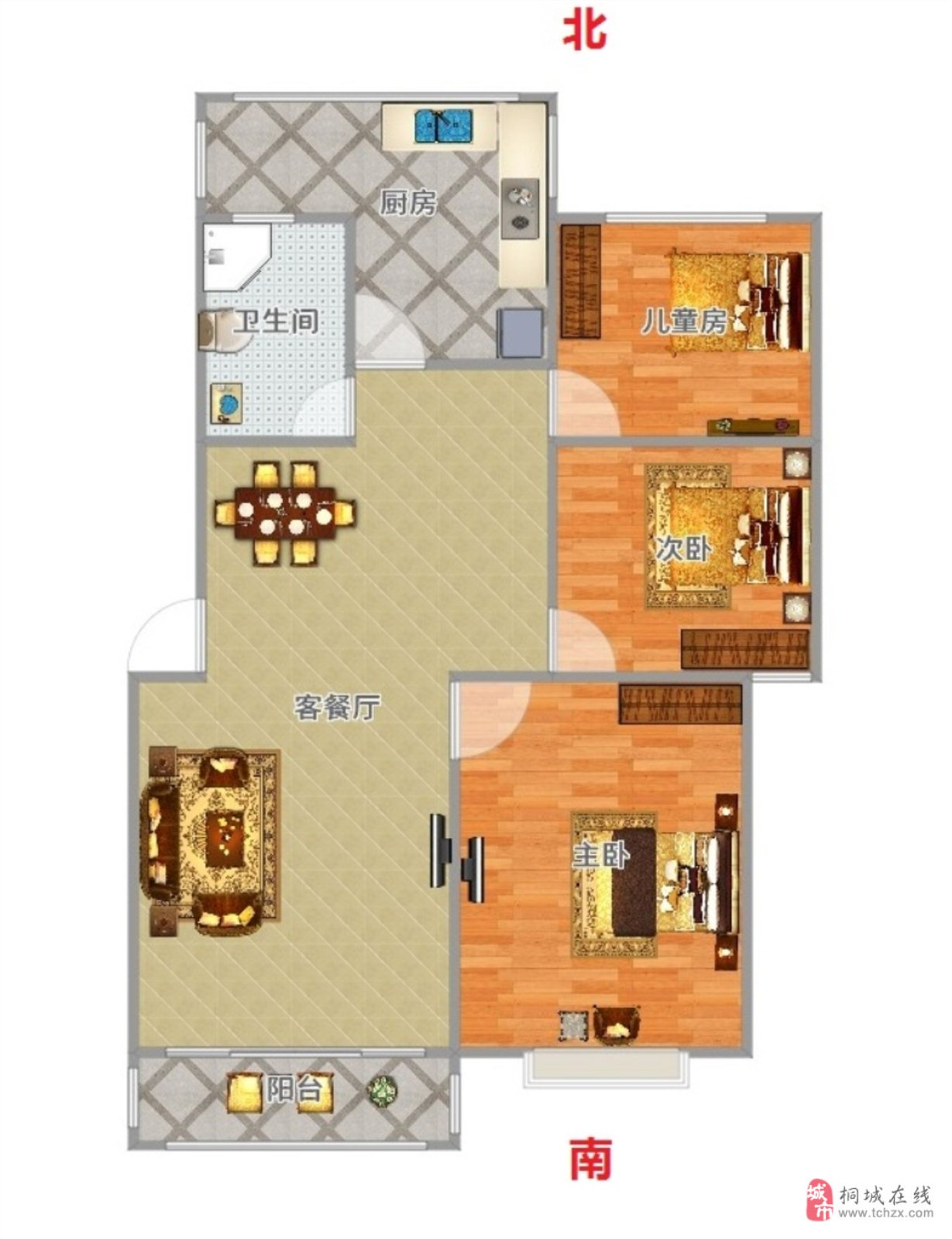 阅城国际3室2厅1卫70万元