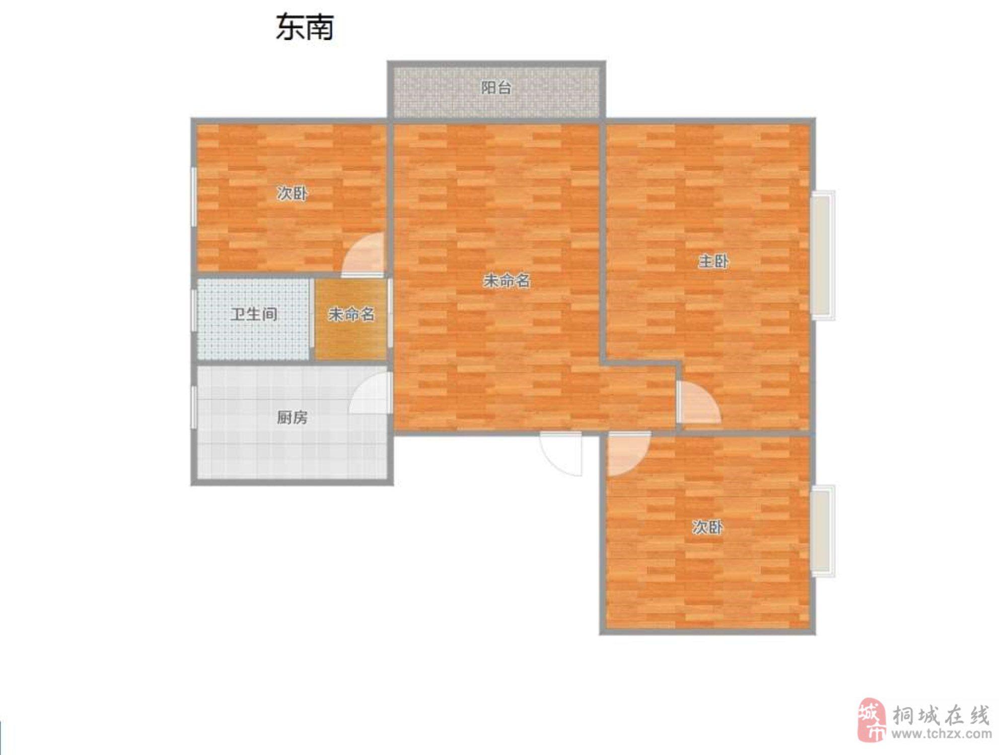 金源华府3室2厅1卫64万元