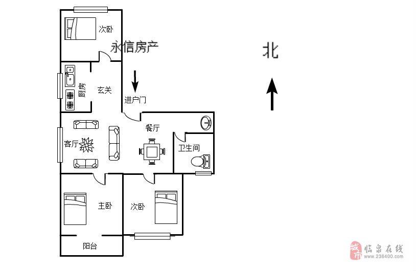 新百苏果小区 西边户 超级好房 首付30% 急售68万