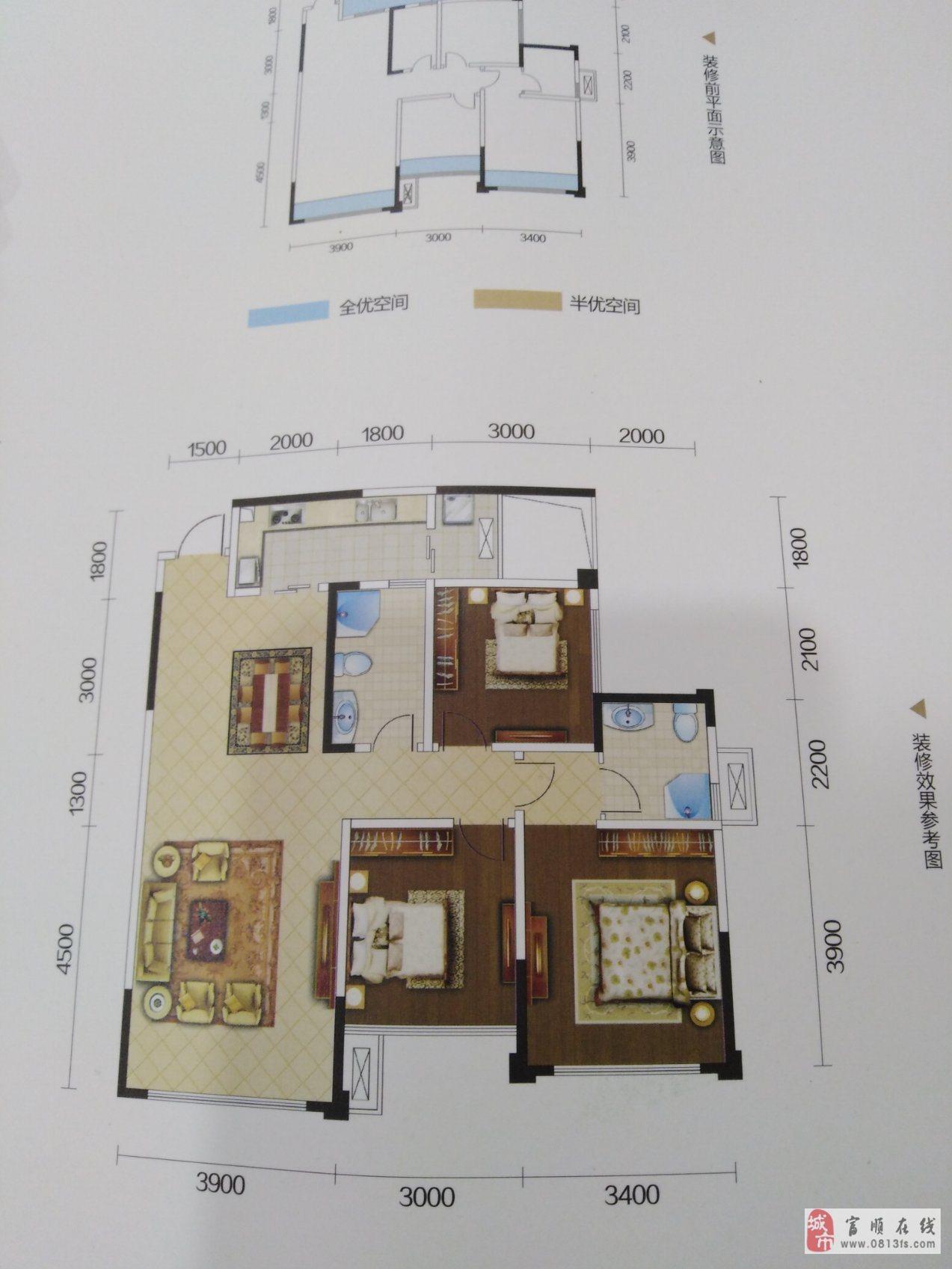 3室2厅2卫,观景房,落地大飘窗,采光视野一流