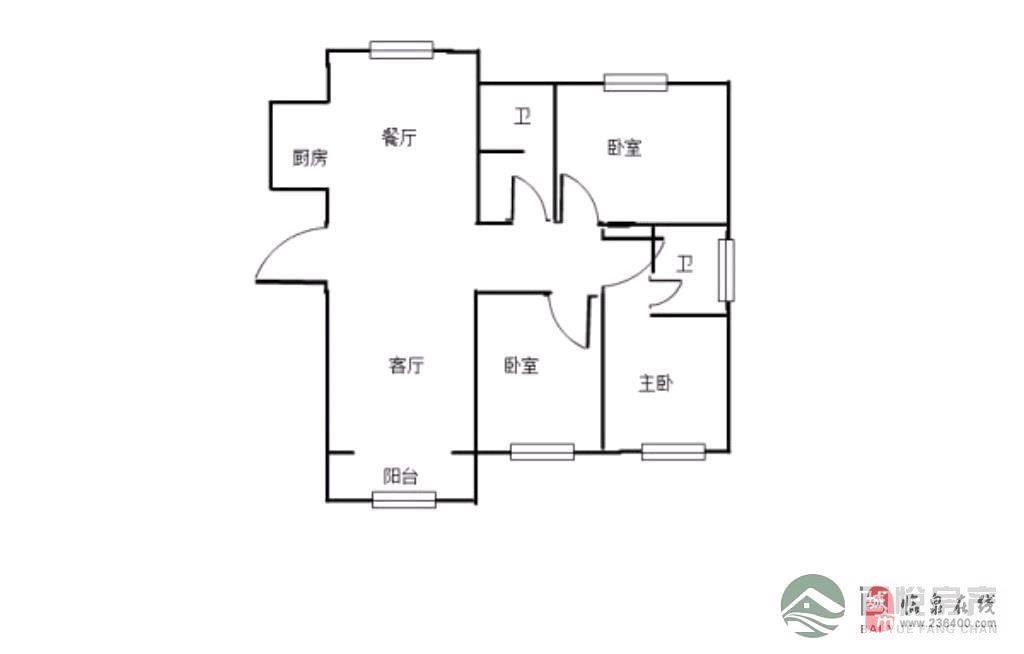 丽阳豪苑精装3室2厅1卫93万元