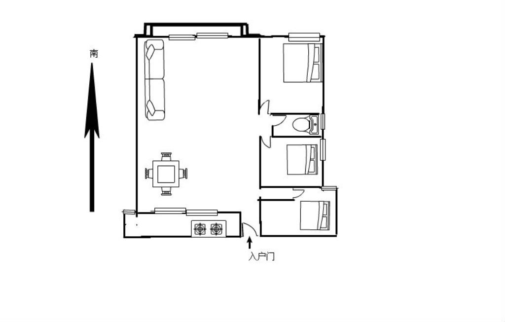约克阳光3室2厅2卫88万元