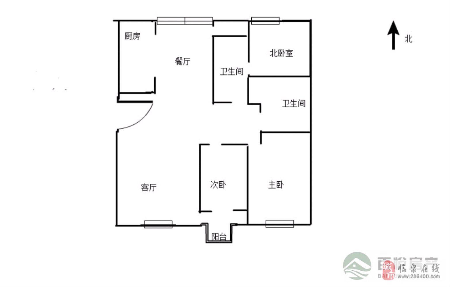 优质:丽阳豪苑城南三室+毛坯有证+可按揭+南北通透