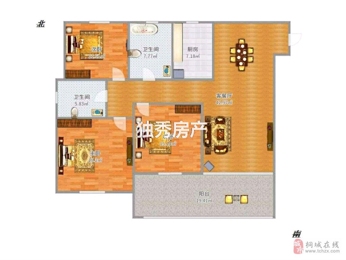 龙腾锦绣城3室的好房采光好户型好出行方便