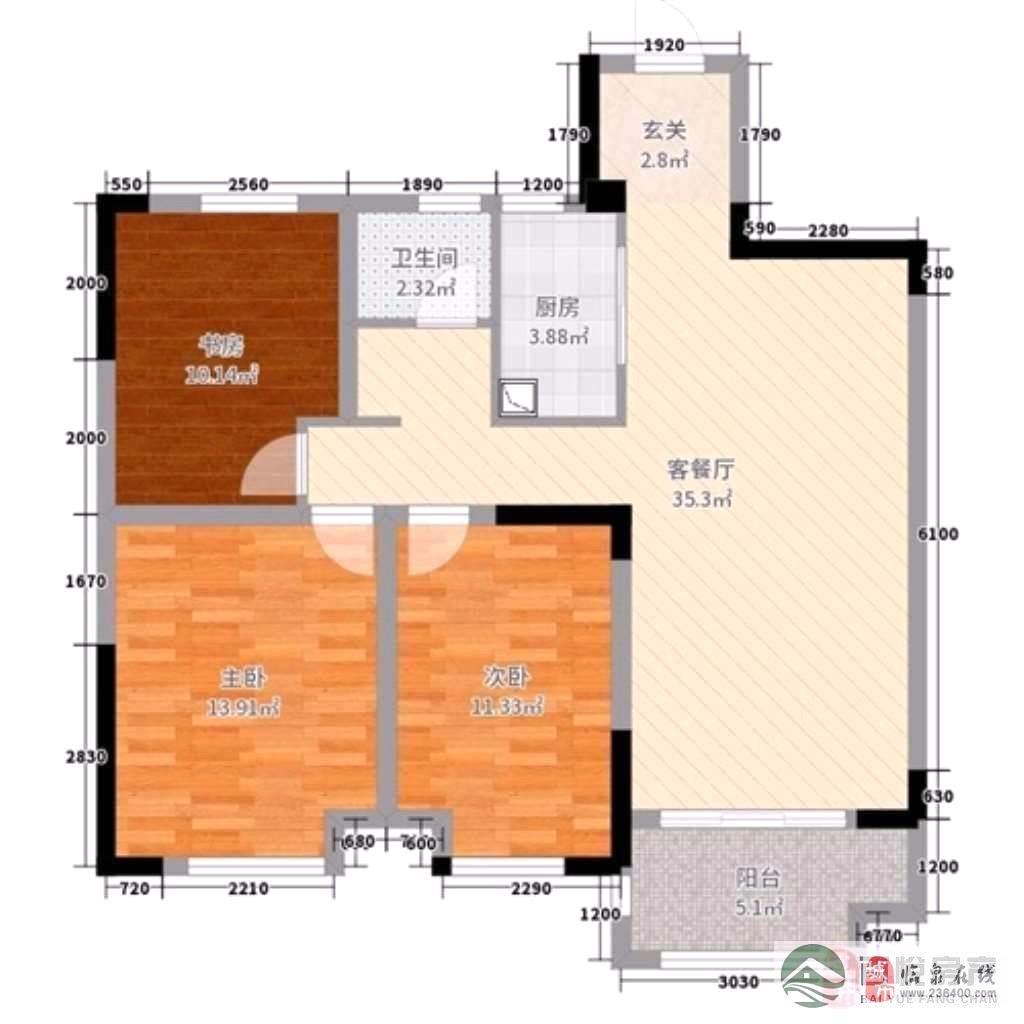 名邦·国际花都3室2厅1卫70万元