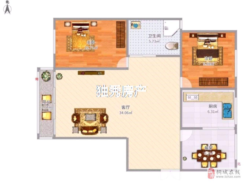 原生湿地公园仙龙湖七里香溪2室2厅1卫55万元