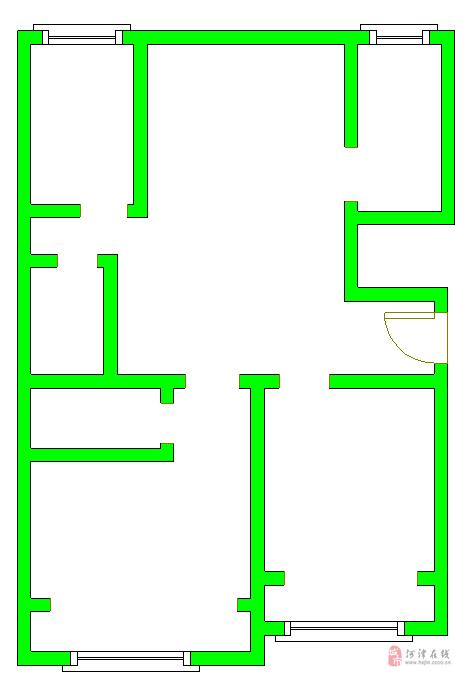 洪福苑剪力墻高層3室2廳2衛85萬元