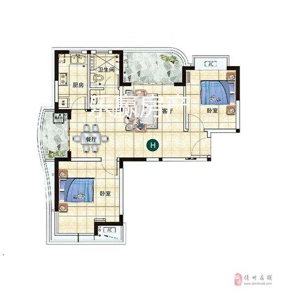 兆南熙园一旁精装两房63万元急售,单价仅7500元/�O