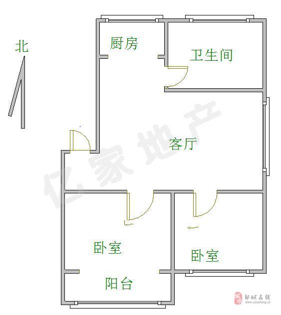 燕京花园2室2厅1卫59万。满五唯一带储藏室