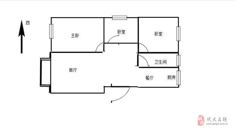 盛威太陽城3室2廳62萬元