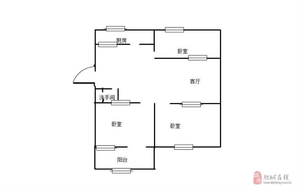 S明桂花园61万3室2厅1卫普通装修,好位置!好房子!