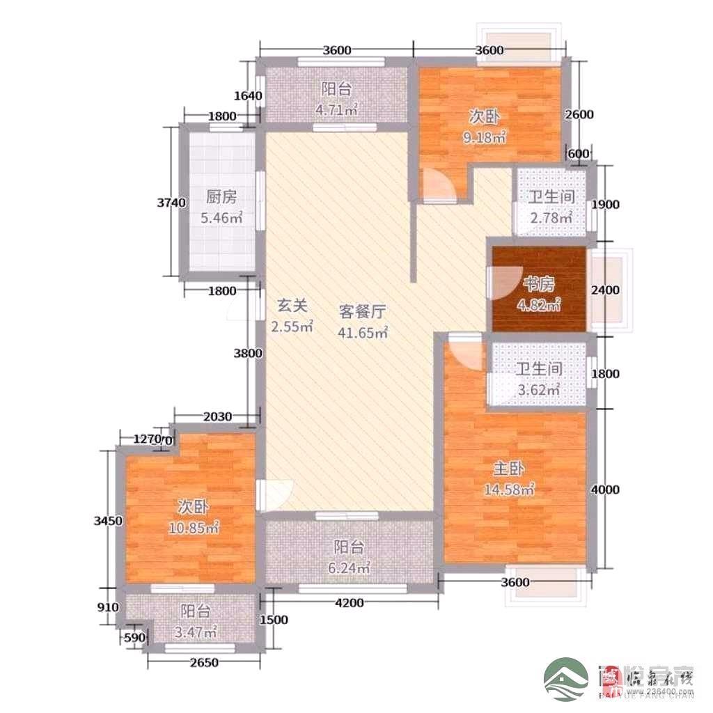 名邦·国际花都3室2厅2卫113万元