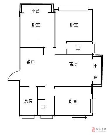 名邦国际花都-124平边户3室2厅1卫87万元