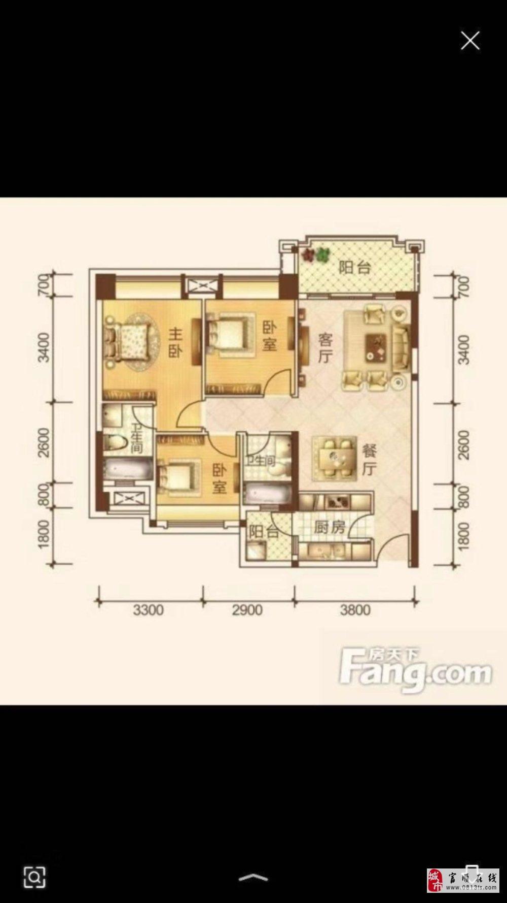 993三源小区3室2卫现浇房精装拎包入住