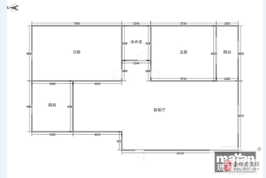 昌盛小區2室2廳1衛25.5萬元