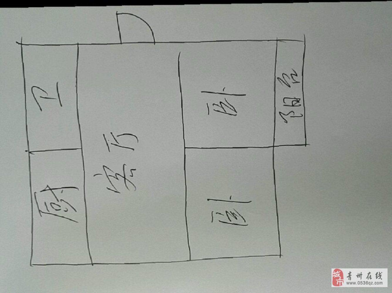 旗城家园2楼精装2室73平+车库68万可贷款