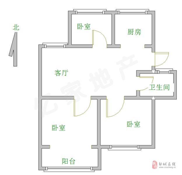 燕京二期满五唯一带储藏室3室2厅1卫63万