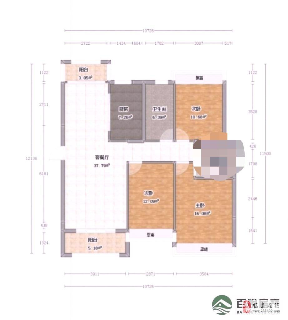 晶宮·天悅3室2廳1衛90萬元