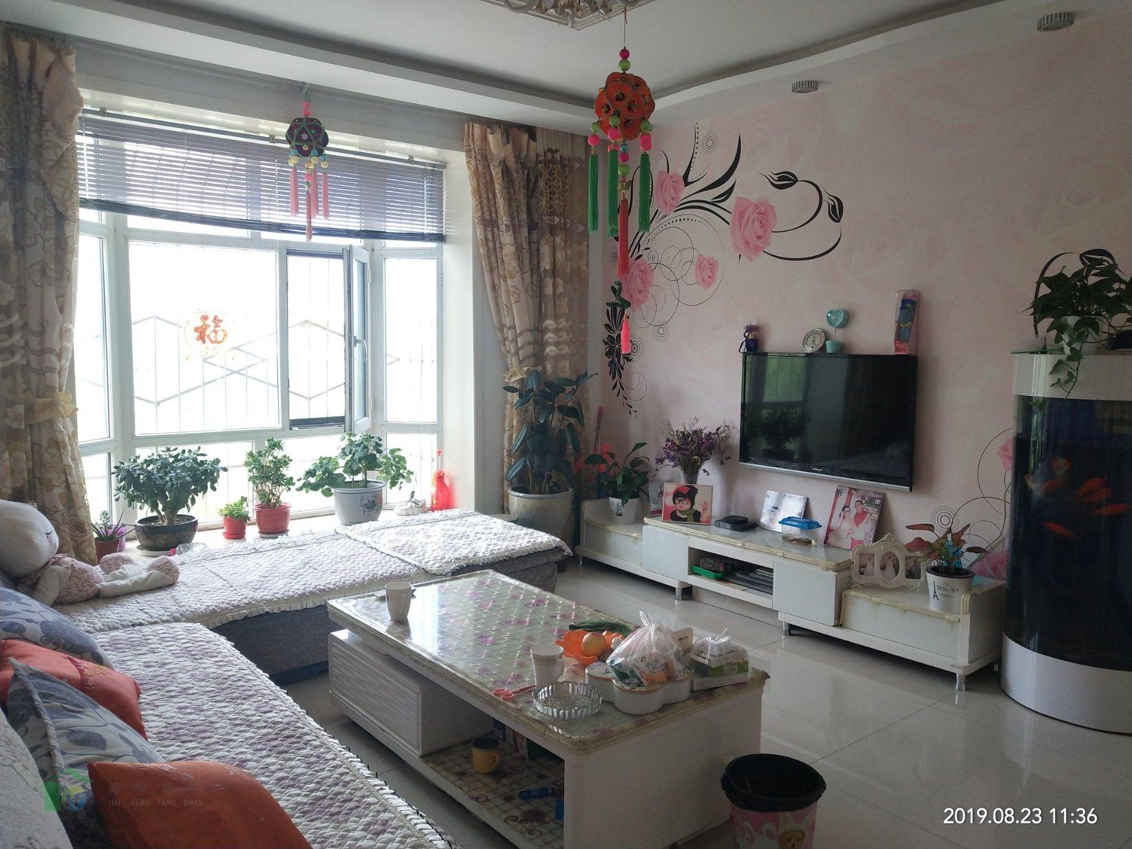 明珠花園92.8平兩室精裝修帶家具家電43萬出售