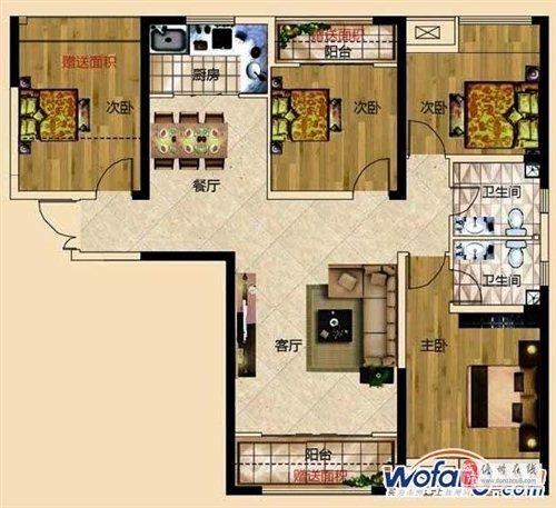 正恒帝景4室2厅2卫80万元