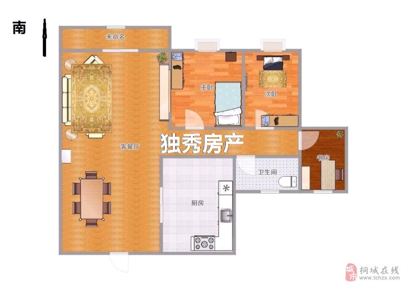 天紫·四季花城2室2厅1卫54万元