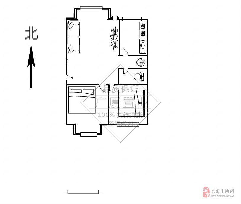 花園新區2室2廳1衛60萬元,便宜出售
