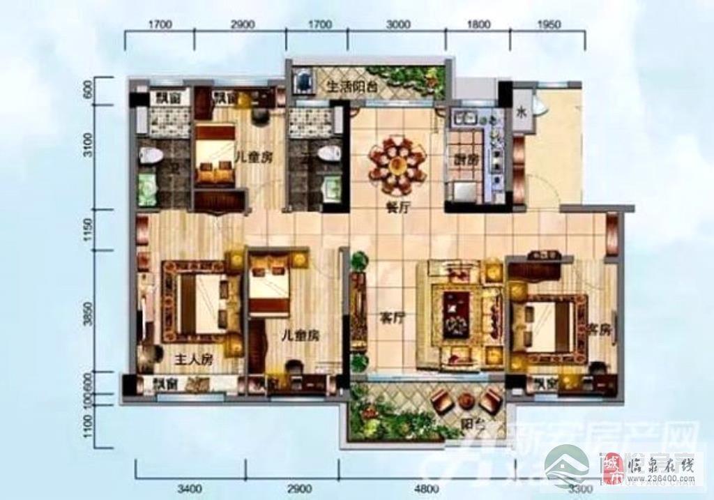 临泉·碧桂园4室2厅2卫103万元