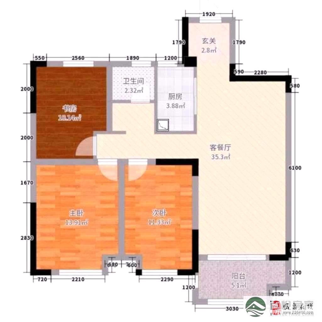 名邦·国际花都3室2厅2卫86万元