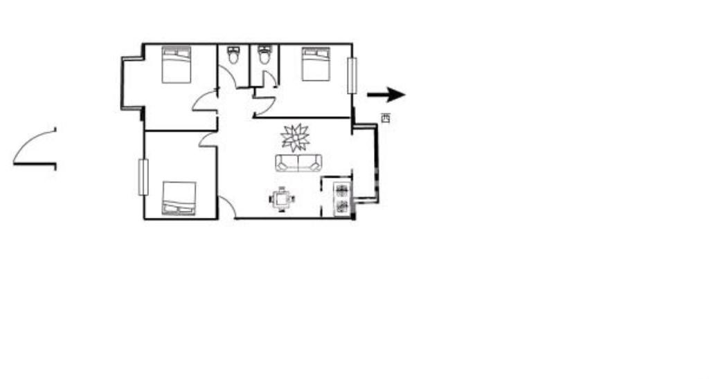 世紀豪庭3室2廳2衛精裝修花園式小區