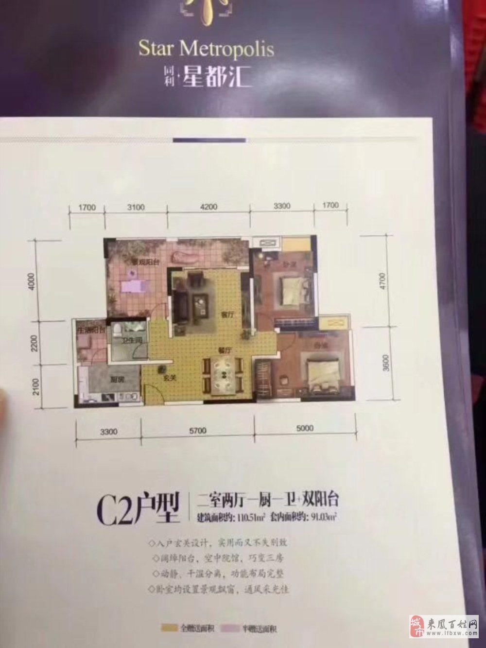 星都汇3室2厅1卫49.5万元