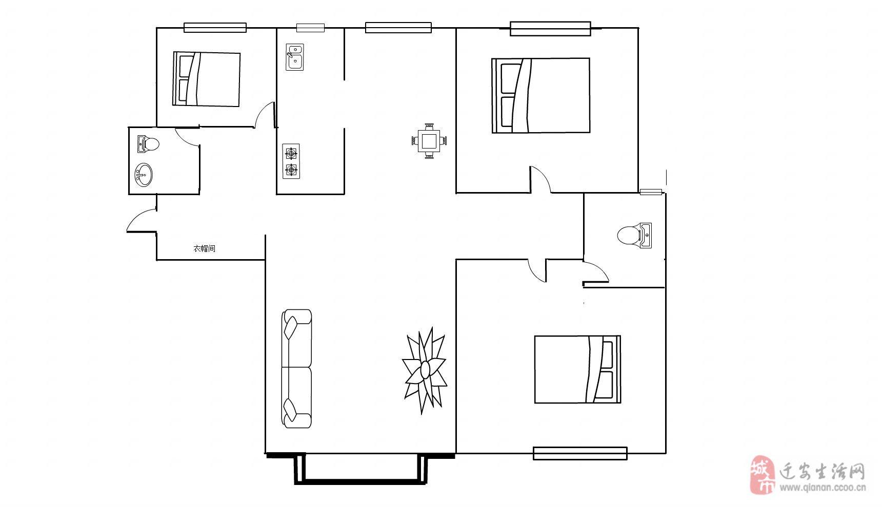 天洋城3室2廳2衛76萬后期費用全部交清